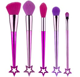 Goat Hair Dhl Australia - Newest Hot Brand Makeup Brushes set 5pcs set High-Performance brushes Powder Foundation Blusher Eyeshadow Makeup tools DHL shipping