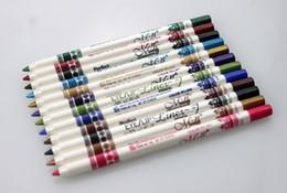Full Lips Kit Canada - 12 Color Per Set Professional Makeup Eyeliner Lip liner Pencils Multi Colors Eye Liner Tools Set Kits
