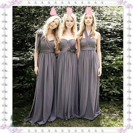 $enCountryForm.capitalKeyWord NZ - Convertible Long Bridesmaid Dresses Sexy Mixed Styles Chiffon Party Dresses For Maid of Honor Custom Made Evening Gowns Long Prom Dress