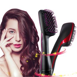 Air brush hAir styler online shopping - Professional Hair Curls Comb Multi Function Electric Hair Blow Dryer Brush Hot Air Hair Dryer Brush Styler CI