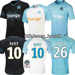 dcb99ead8 18 19 Olympique de Marseille white Home 3RD soccer Jersey Thai quality  GOMIS Away black 2018 2019 Marseille football shirt PAYET SANSON