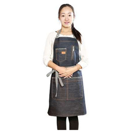 $enCountryForm.capitalKeyWord Canada - Kitchen Sleeveless Apron Men Women Restaurant Kitchen Hotel Uniform Cooking Bib Aprons Denim Working Cooking Apron Workwear