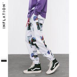 graphic print joggers men 2019 - INFLATION Harem Pants Graphic Print Pencil Pants Elastic Waist Track Trousers Mens Womens Fashion Joggers Sweatpants 884