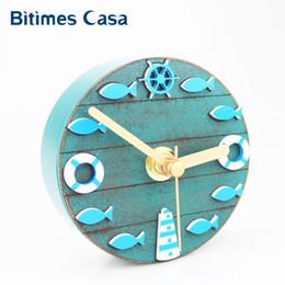 $enCountryForm.capitalKeyWord NZ - Unique Mediterranean Style Kitchen Refrigerator Fridge Magnet Clock 3.3' Portable Wall Clock Fish Modern Home Decoration
