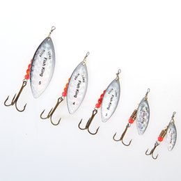 high quality lure hooks Australia - FISH KING High Quality Mepps 1PC 1# 2# 3# 4# 5# Bass Hard Baits Spoon With Treble Hook Tackle Spinner Bait Fishing Lure Y18100906