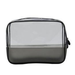 69d168ad06a0f3 Plastic Waterproof Zipper UK - Women PVC Transparent Waterproof Plastic Travel  Cosmetic Bag Storage Bag