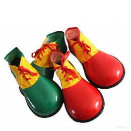 $enCountryForm.capitalKeyWord UK - Halloween Perform Clothes Accessories Party Decor Artificial Leather Clown Shoes Cosplay Dress Up Supplies Red Green 13 5sz Ww