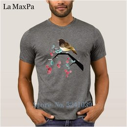 $enCountryForm.capitalKeyWord Australia - Designing Humor T-Shirt For Men Cotton 2018 Tshirt Man Bird Watching Fire Flower Men T Shirt Fitness O Neck Cheap Sale
