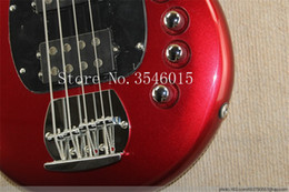 music bass guitar Canada - Free shipping Real photos Hot Selling High Quality 2018Active Pickup Musicman Bongo red 4 String Music Man Electric Bass Guitar