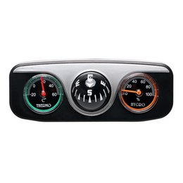 China Car Ornaments Compass Thermometer Hygrometer For Auto Boat Vehicles 3 in 1 Guide Ball Interior Accessories suppliers