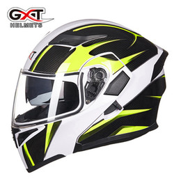 Genuine Helmet NZ - 2017 New Cool Genuine GXT Racing Helmet Flip up Motorcycle Helmets Motorbike Warm Men Moto Casco Capacete Casque Summer Winter