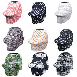 Scarf ShopS online shopping - Multi Use Baby Nursing Cover Breastfeeding Cover Privacy Scarf Blanket Infinity Scarf Baby Car Shopping Cart Cover Multi Color Express
