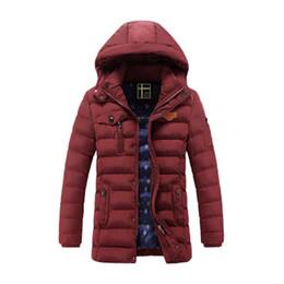 713fb5c5113ca Windbreaker Men Parkas Solid Anorak Hooded Thicken Bomber Puffer Jackets  2018 Winter Plush Collar Coat Clothing