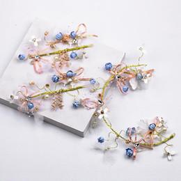 Coral Hair Accessories NZ - Bridal accessories exquisite butterfly flower hair headdress set fairy butterfly headdress set bridal accessories