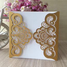 20pcs Lot Personalized Laser Cut Invitations Card Sweet Birthday Party Decorations Wedding Greeting