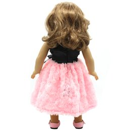 31f4e4ee5fbf 18 Inches Doll Clothes UK - Doll Accessories American Girl Dolls Clothes  Black Bow Red Pink