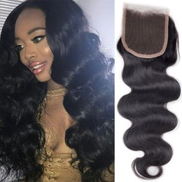 Hair Waves Online Australia - 4*4 Lace Closure Brazilian Body Wave Closure Natural Color Brazilian Virgin Remy Hair Weaves Body Wave Cheap Human Hair Online SASSY GIRL