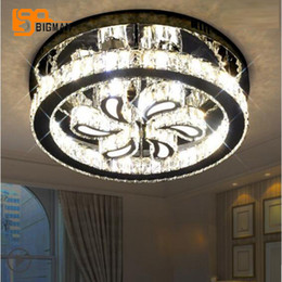 Discount lights design cristal - Creative design LED ceiling lamp modern cristal plafonnier Dia50*H14cm lustre ceiling lights for living room bedroom