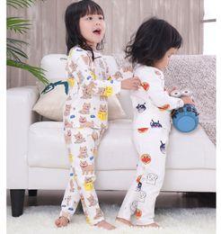 Children Pajamas Fashion 2018 Kids Girls Clothing Casual Cartoon Pajamas  Set Cotton Boys Girls Pyjamas Kids Clothes Nightwear Sleepwear 1-5T 3207c976b5a2