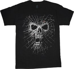 Tall Tee Men Canada - Big man shirt spider web skull tee men's plus size big and tall 5X 6X 7X 10X