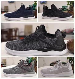 b05f2d966e3 2019 Cheap IGNITE Flash evoKNIT Running Shoes Triple Black White Blue Red Men  Sneakers Fashion Lightweight Breathable mens sports Shoe