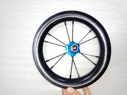Folding Bike 12 Inch NZ - 12 Inch Hot Sale BMX Carbon Wheels 30mm Depth 25mm Width Tubless Full Carbon BMX Wheelset 3K TRILL With 6 Colours Hubs