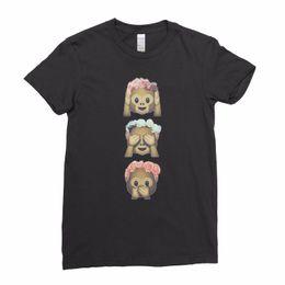 T shirTs emoji faces online shopping - Funny Monkey Emoji Three Wise Hipster Face Ladies Women T shirt Tee Top Cartoon t shirt men Unisex New Fashion tshirt Loose