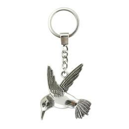 Metal Bird Key Chain Australia - 6 Pieces Key Chain Women Key Rings Fashion Keychains For Men Bird 68x61mm