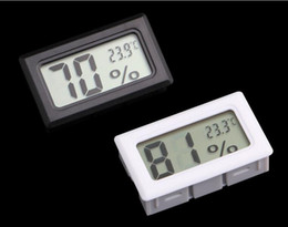 Digital Thermometer Meter Australia - Updated Embedded Digital LCD Thermometer Hygrometer Temperature Humidity tester refrigerator Freezer Meter Monitor black white color
