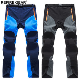men s winter gear 2019 - ReFire Gear Summer Outdoor Sport Pants Men Quick Dry Waterproof Breathable Hiking Trousers Elastic Climb Trekking Campin