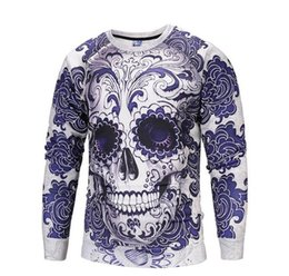 sweatshirt skulls Australia - Halloween Mens 3D Hoodies Spring Autumn Winter Skull Turkey Printed Cute Sweatshirts O-neck Pullovers Fashion Tops