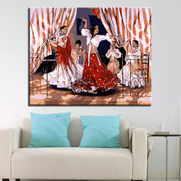 Framework DIY Oil Painting By Numbers Kits Coloring HandPainted Spanish  Dance Girl Pictures On Canvas Living Room Decor Wall Art Discount Spanish Wall  Decor