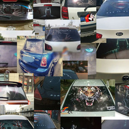 rear window stickers NZ - wholesale 127cmx 70cm Rear Windshield Decal Stickers Mesh Film One Way Vinyl Car Rear Window Glass Photographic Printed Film Tint