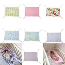 $enCountryForm.capitalKeyWord UK - Baby Floral Unicorn Printed Hammock Newborn Portable Removable for Boys Girls Bed Infant Summer 100*70CM Cradles 7 colors Bassinets C4070