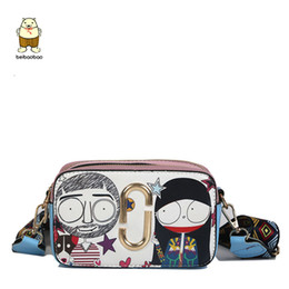 graffiti handbags 2019 - Beibaobao Fashion Cartoon Printed Women Graffiti Handbag Mini Crossbody Shoulder Bag Ladies Casual Purses Clutches Girls