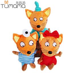 d844f5a988f Tumama Russia Happy Kitten Stuffed Plush Cat Plush Toys Cartoon Stuffed  Animals Soft Doll Toys Cat Birthday Gifts for Kids