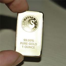 1 унция Перт Монетный Двор золотой слиток немагнитные,Perth Mint Australia 1 унция. Золотой слиток, позолоченный 24K золото, подарок