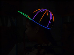 $enCountryForm.capitalKeyWord NZ - Creative Glow Sticks Combination Luminous Hat Fluorescent Baseball Cap Stage Performance Props Concert Party Props wen5925