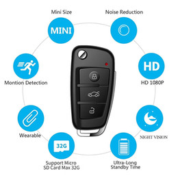 $enCountryForm.capitalKeyWord Australia - 32GB memory built-in Car Key Camera Full HD 1920*1080P MOTION ACTIVATED With IR camera Car Key Camcorder Mini DV DVR cam PQ193