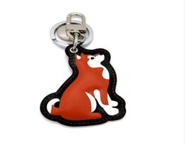 Chinese  Fashion Cute Lady Bags Pendant High-end Handmade Leather Car Keychain Puppy Pendant Bags Ornaments Metal Keyring manufacturers