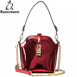 chains for handbags NZ - 2018 crossbody bags for women leather handbags luxury handbags women bags designer patent leather chain bucket bag sac a main