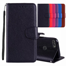 $enCountryForm.capitalKeyWord UK - For Huawei Mate 20 X Pro Lite Mate 10 Pro Y6 Y9 2018 Enjoy 7 7S Leechee Leather Wallet Cases Lychee Litchi Flip Frame Card Slot Cover Pouch