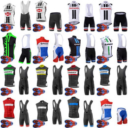 giant bicycle team jersey 2019 - GIANT team Cycling Sleeveless jersey Vest (bib)shorts sets bicycle exercise Clothes mtb Bike Comfortable racing wear D13