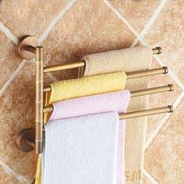 $enCountryForm.capitalKeyWord Australia - Towel Racks Antique Brass 4 Layer Activities Towel Bar Holder 180 Degree Rotation Wall Bathroom Accessories Hanger Shelf ST3304