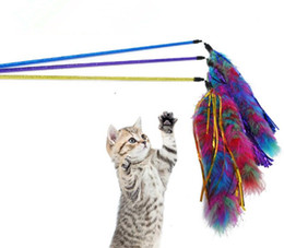 interactive bell UK - Pet Cat Playing Toys Bell Feather Dangle Kitten Rod Toy Interactive Funny Hot Sale 04