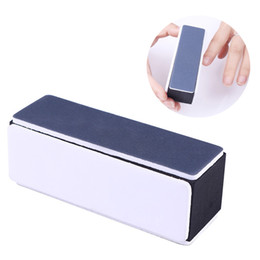 Nail file smoother buffer online shopping - 4 sides Nail Buffer Sanding Block Shaping Smooth Polishing File Black White Manicure Nail Art Tool