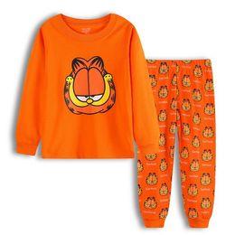 Discount sport pajamas - Kids Sports Suit Christmas Pajamas Set Cotton T-shirt + Pants Boys Girls Autumn Winter Sleepwear Casual Wear sleeping su