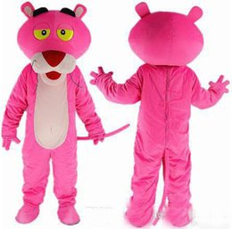 pink fancy dress costumes Canada - 2018colours rainbow The pink panther Cartoon Mascot Costume Adult Size Fancy Dress fancy dress EPE head carnival costume party free shipping