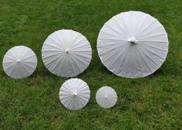 Chinese  bridal wedding parasols White paper umbrella Chinese mini craft umbrella 5 radius:10,15,20,30,42cm wedding favor decoration manufacturers