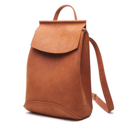 $enCountryForm.capitalKeyWord UK - XIYUAN 100% Genuine Leather Women yellow brown Backpack Top Layer Cow Leather Ladies Fashion Backpacks Travel Party Rucksack